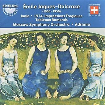 E. Jaques-Dalcroze-Mile Jaques-Dalcroze: Janie; 1914 (indtryk Tragiques); Tableauer Romands [CD] USA importerer