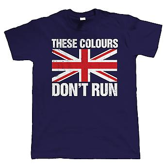 Vectorbomb, These Colours Don't Run, Mens Football T Shirt (S to 5XL)