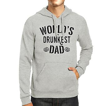 World's Drunkest Dad Unisex Grey Hoodie Humorous Gifts For Dad