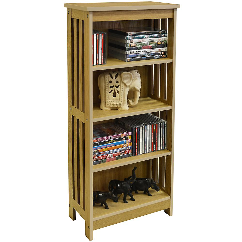 Mission - 132 Cd / 48 Dvd / 96 Blu-ray Media 4 Tier Storage Shelves - Ash