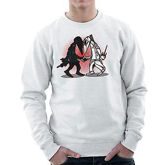 Ninja Vs Ninja Snake Eyes Vs Storm Shadow Spy Vs Spy GI Joe mænds Sweatshirt