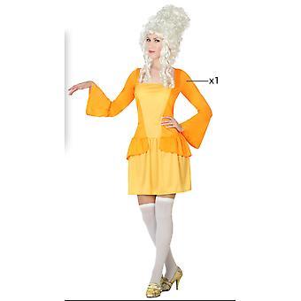 Kvinder kostumer kurtisane gule kjole op kostume til damer