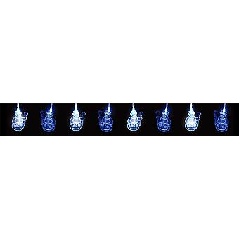 30 LED Christmas Xmas Hanging Decoration Snowman Lights Various Colours