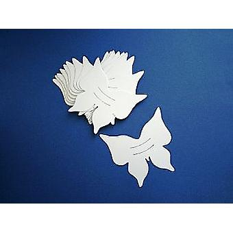 100 White Butterfly Card Finger Puppets | Kids Insect & Bug Crafts