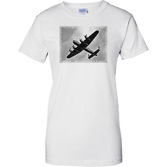 Avro Lancaster Bomber Black & White -  - Ladies T Shirt