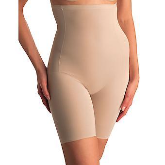 Womens Naomi and Nicole Comfortable Firm Nude Hi-Waist Thigh Slimmer 779