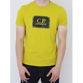 CP Company Stamp Logo T Shirt - Citronelle