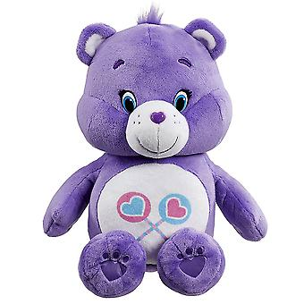 Abbraccio di orso di cura e ridacchiano Condividi peluche orso