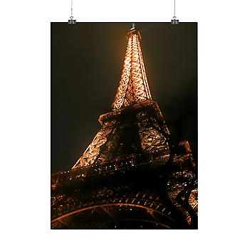 Matte or Glossy Poster with Eiffel Tower Cool Fashion | Wellcoda | *q190