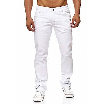 Men's jeans white pant of classic denim look RICKON