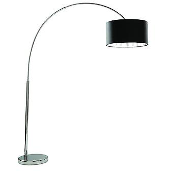 Arcs Chrome Floor Lamp With Black Shade - Searchlight 1013cc