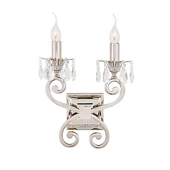 Oksana nikkel Twin Wall Light - interieurs 1900 Ul1w2n