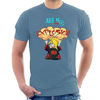 Naruto kunst er en eksplosion mænd T-Shirt
