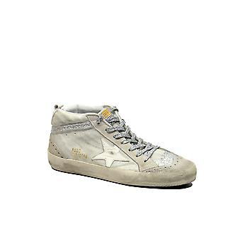 Golden Goose women's G32WS634I3 White Leather Hi Top sneakers