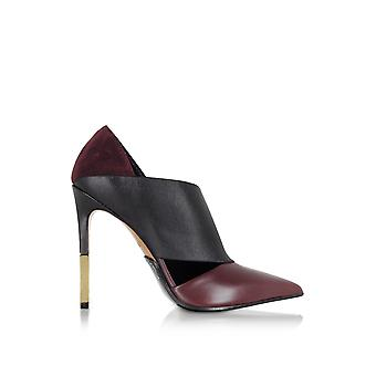 Balmain ladies W7CEV110206O35 Burgundy leather pumps