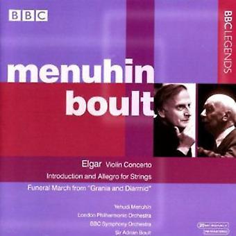 E. Elgar - Elgar: Violinkoncert; Introduktion og Allegro for strygere; Osv [CD] USA importerer