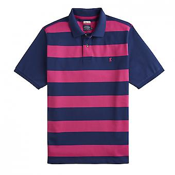 Joules Joules Fillbert Striped Pique Mens Polo With Plain Sleeves (Y)