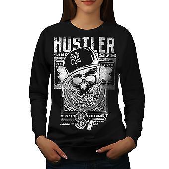 Gamer Skull femmes BlackSweatshirt   Wellcoda