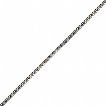 9ct White Gold 1.1mm wide Spiga Pendant Chain 20 inches