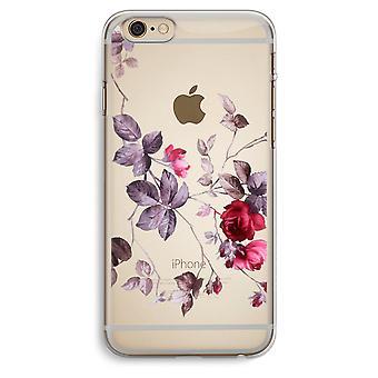 iPhone 6 Plus / 6S Plus transparant Case (Soft) - mooie bloemen