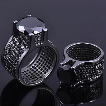 Iced out bling micro pave ring - LA black
