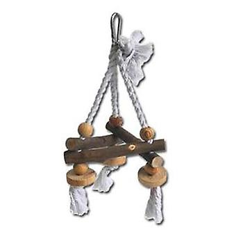 Nayeco Natural birds toy Swing Rope and Wood Small (Vogels , Speelgoed)
