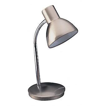 Lámpara de mesa de Harvard dará en acero pulido