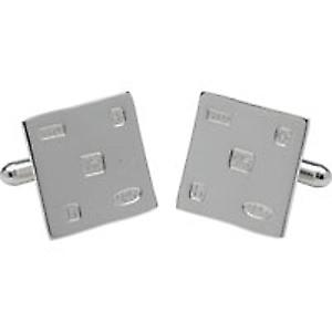 Sterling Silver Square Cufflinks STG11