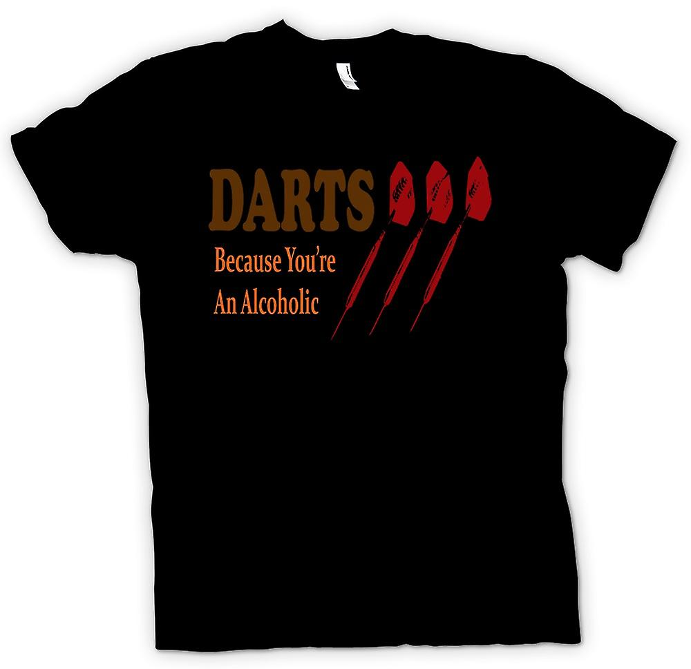 Kids T-shirt - Darts Cos You're An Alcoholic - Funny