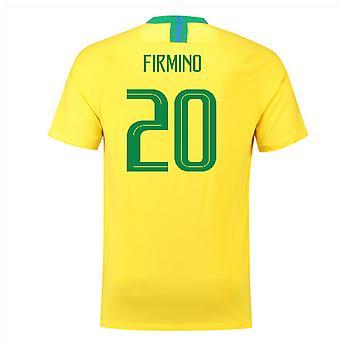 2018-2019 Brazil Home Nike Football Shirt (Firmino 20) - Kids