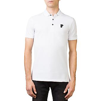 Versace Kollektion Herren Medusa-Logo passen regelmäßige Pique Polo Shirt weiss