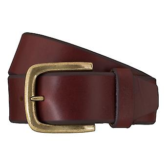 Levi BB´s belts men's belts leather jeans belt Bordeaux 6255