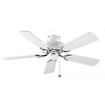 Ceiling Fan Mayfair White / Steel 107cm / 42