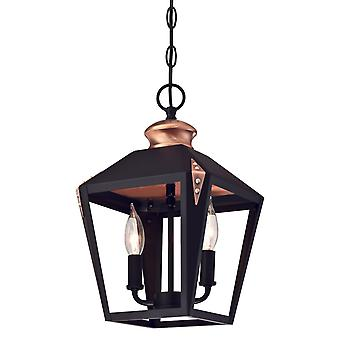 Westinghouse Pendant Valley Forge Black with 2 Lights