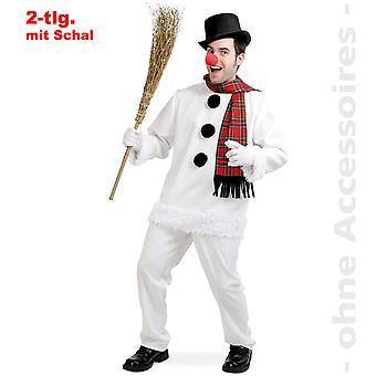 Schneemann Herren Snow Kostüm Winter Schnee Herrenkostüm