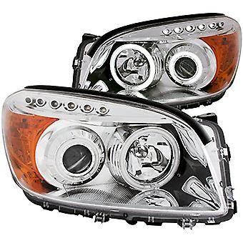 Anzo USA 111121 Toyota RAV4 Projector Chrome Clear Amber Headlight Assembly - (Sold in Pairs)