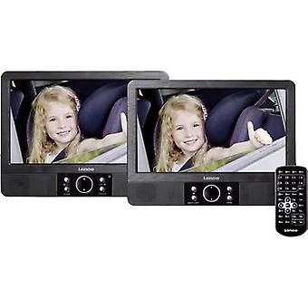 Lenco MES-405 Headrest DVD player + 2 monitors Screen size diagonal=22.5 cm (9 )