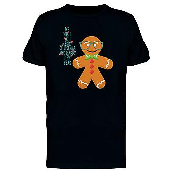 Hipster Gingerbread Man Tee Men's -Image by Shutterstock