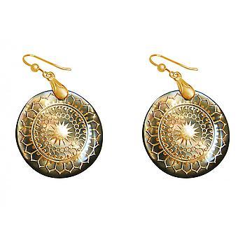 Gemshine Damen Ohrringe Vergoldet Perlmutt Grau 4 cm