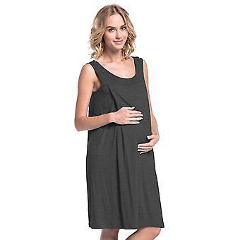 Happy Mama. Women's Maternity Nursing Nightdress Gown Nightshirt Pregnancy. 994p