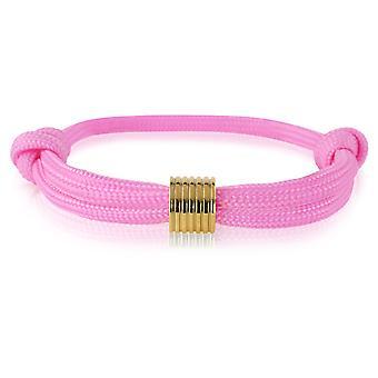 Skipper bracelet surfeur bande marque nœuds bracelet rose pendentif or 7365