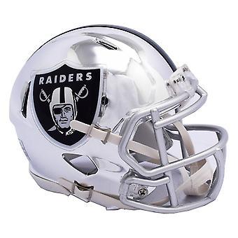 Riddell mini voetbal helm - NFL CHROME Oakland Raiders