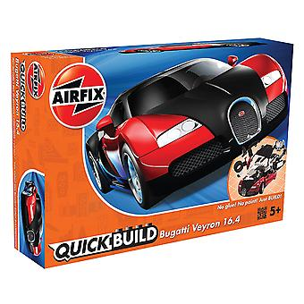Airfix szybko zbudować Model Bugatti Veyron - czarny/czerwony