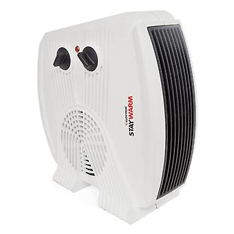 Lloytron F2035WH BEAB Automatic Staywarm 3kw Upright & Flatbed Fan Heater