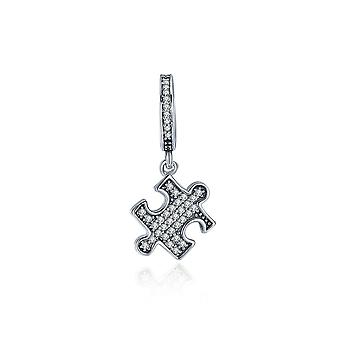 Sterling silver pendant charm Puzzle piece