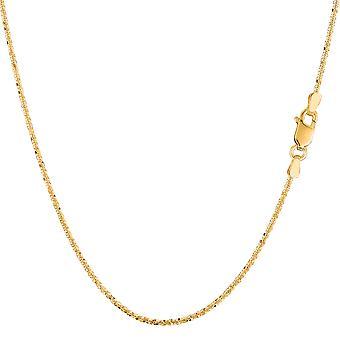14 k geel gouden Sparkle Chain ketting, 0,9 mm