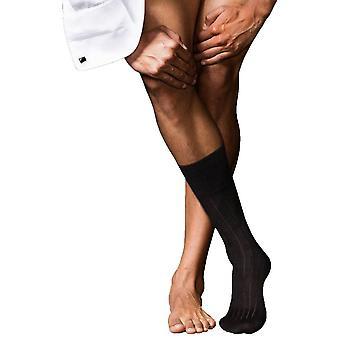 Falke No2 fineste Midcalf Kashmir sokker - svart
