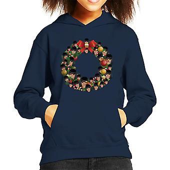 Bluza z kapturem dla dzieci Boże Narodzenie wieniec Multi Cardi B