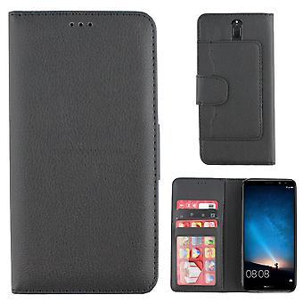 Bolsa cartera Colorfone Huawei Mate 10 pequeño (negro)