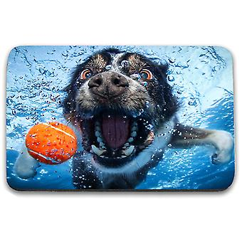 i-Tronixs - Underwater Dog Printed Design Non-Slip Rectangular Mouse Mat for Office / Home / Gaming - 11